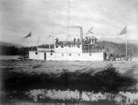 """Arctic Brotherhood Picnic, Jul 18th 1905, Atlin Lake, BC""; Aboard SS Scotia."
