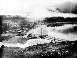 """Hydraulic fill dam, Coquitlam Lake, Vancouver Power Company""."