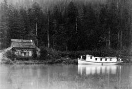 Mr. Halliday's boat at the mouth of Kingcome River, fifty miles from Alert Bay