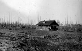 """A settler's start at Merville near Courtenay, Vancouver Island""."