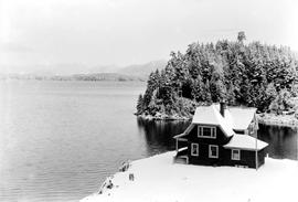 Bamfield Cable Station Superintendent's House In Winter.