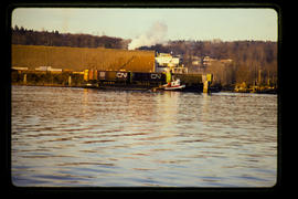 Rail barge, north arm of the Fraser River.