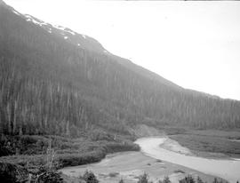 Southwest fork of the Copper River, head of the upper canyon.