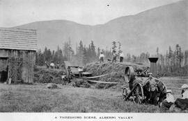"""A Threshing Scene, Alberni Valley."""