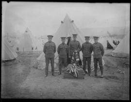 62nd Battalion soldiers with mascot