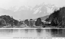 """Harrison Hot Springs Hotel and Mount Cheam, BC, Canada."""