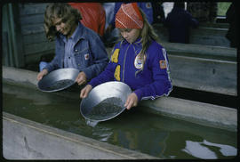 Children Panning Gold In Barkerville