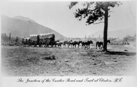 """The junction of the Cariboo Road and trail at Clinton, BC."""