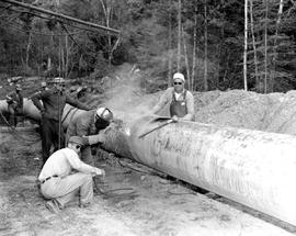 Laying Gas Pipeline, Peace River Area