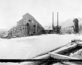 """Coal Creek sawmill; high water on Elk River."""