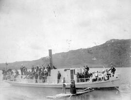 Kamloops Museum photo; a boat excursion with Captain Ward; Kamloops