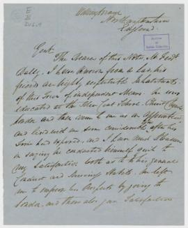 Letters of Introduction: 6. Henry Cheetham: 1 letter