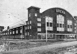 """Arena""; hockey and skating rink, Victoria; halftone."