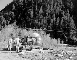 Helicopter Nahalatch River Camp