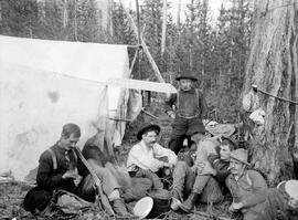"""Skeeter Diggings""; camp in the east Kootenays."