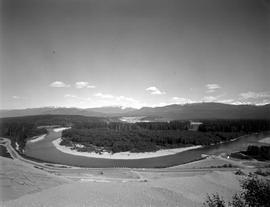 Kitimat River With Kitimat In The Background