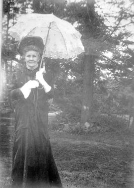 Mrs. William John MacDonald; photo taken on the grounds of Armadale, Victoria.