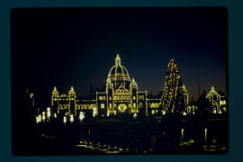 Night View Legislative Buildings Victoria
