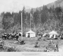 """Indian Reserve Commissioner's Camp in Spuzzum, 10 miles above Yale."""