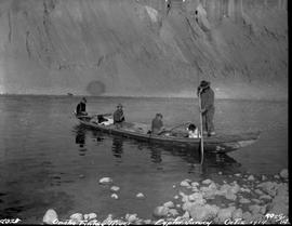 Exploratory survey canoe and crew on the Finlay River.