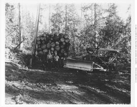 Logging Truck And Cat Skidder Holding Lumber Co. Adams Lake