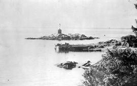 """Entrance to Esquimalt Harbour, Victoria, BC""; Fisgard lighthouse."