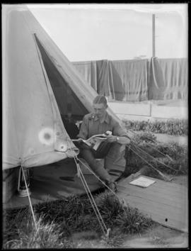 2nd CMR, soldier in tent