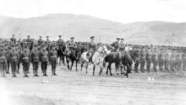 Governor General the Duke of Connaught inspecting the troops at Vernon