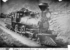 """1885; first locomotive of C.P.R. at Ashcroft."""