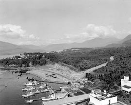 Aerial Of The BC Ferry Wharf At Prince Rupert.