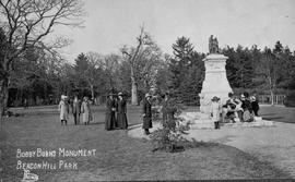 """Bobby Burns monument, Beacon Hill Park"" Victoria"