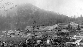 """Smelting Works,  Greenwood BC""; the BC Copper Co. smelter at Greenwood."