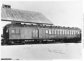 Gas-motor car no. 101, 3/4 view almost broadside, semi-closeup, no doubt a car acquired by PGE fr...