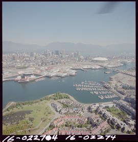 Aerial Of Expo Site, False Creek Vancouver