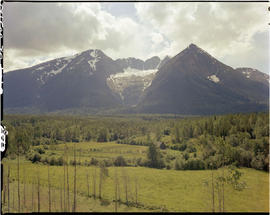 Hudson Bay Mountain and glacier near Smithers.
