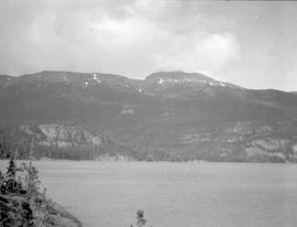 Mount Loring from Ernie Bluff triangulation station across Morice Lake.