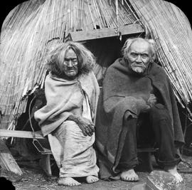 An elderly First Nations couple; Duncan.