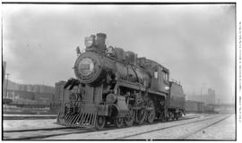 4-6-0 Esquimalt and Nanaimo [E & N] No. 463, 3/4 right . Closeup . At Vancouver en route to V...