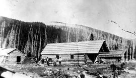 Camp At Slough Creek, Manager John Hopp's Office, Home And Stable.