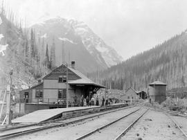 Railway facilities yard at Rogers Pass