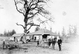 Alfred Thomas Peatt's residence and family in Colwood.
