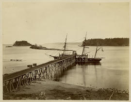 H.M.S. Boxer [loading coal at Departure Bay].