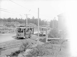 B.C. Electric streetcars on Esquimalt run