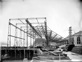 Construction of Prince Rupert dry dock.