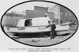 """Inspector Fred C. Dean, who captured Larry Kelly, the notorious smuggler"""