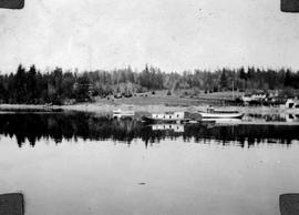 Thetis Island. Mr. Burchill's Home And Boats