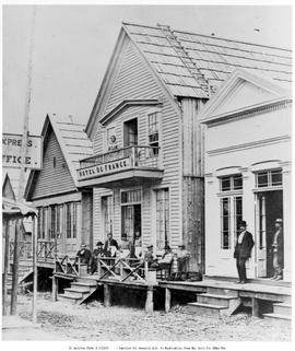[Barkerville's Hotel de France, before the fire of September 16, 1868.]