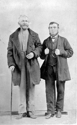 Shipbuilder William Bolton on the right, and a Mr. Howson on the left.