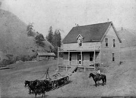 Kamloops Museum photo; the H.W. Cardew home; Kamloops