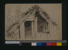 [Section Of A Building On His Homestead Located On The Opposite Side Of The Lake From Sicamous]